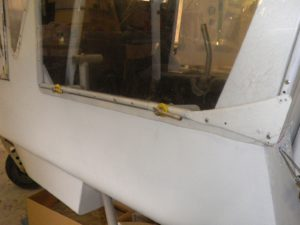 rear canopy window with twin latches on Shadow ZK-KLH
