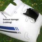 Missing pieces, cracks + rubbing damage