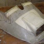 Completed part-mould