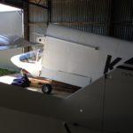 Tucked up in hangar